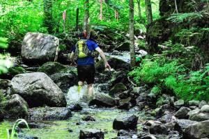 """Le ruisseau que nous devons """"escalader"""" après avoir traversé la 329"""