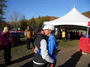 Ce n'est pas le baiser du vainqueur, mais c'est ce qui s'en rapproche le plus !  ;-)